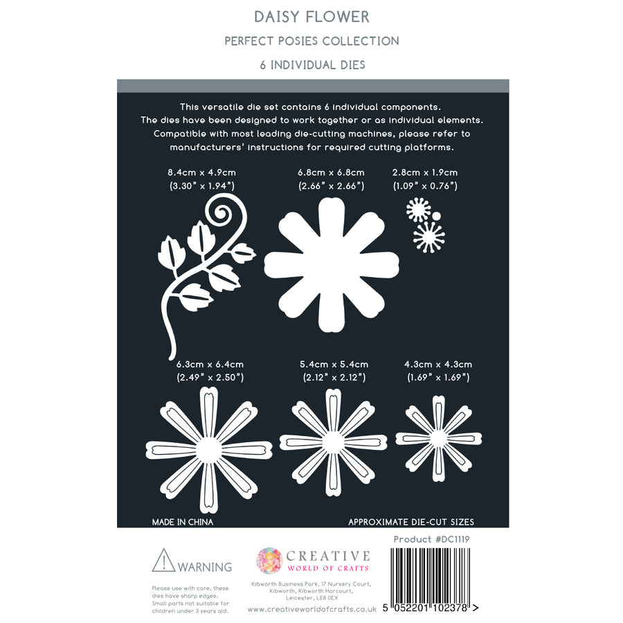 The Paper Boutique - Perfect Posies - Daisy Flower Craft Die