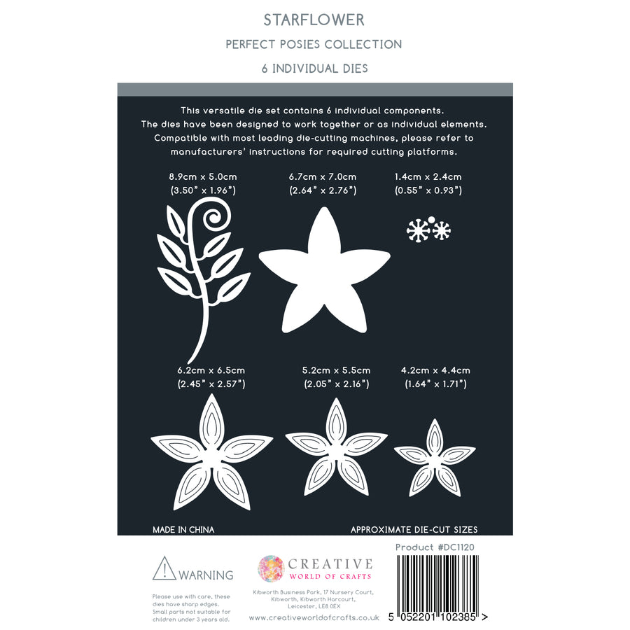 The Paper Boutique - Perfect Posies - Starflower Craft Die