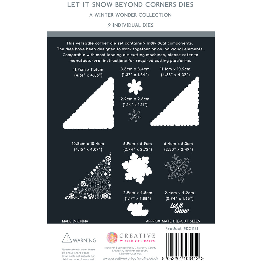 The Paper Boutique Die - Beyond Corners - Let It Snow - PBDC1131