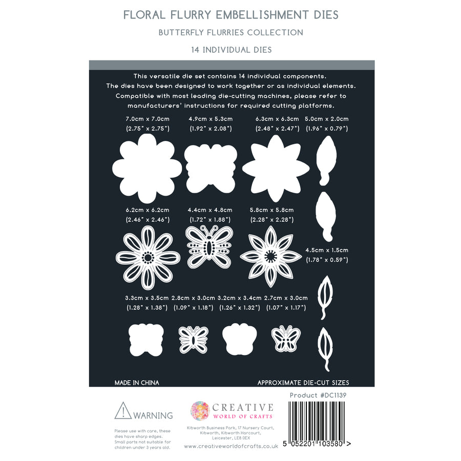 The Paper Boutique - Floral Flurry Embellishments Dies