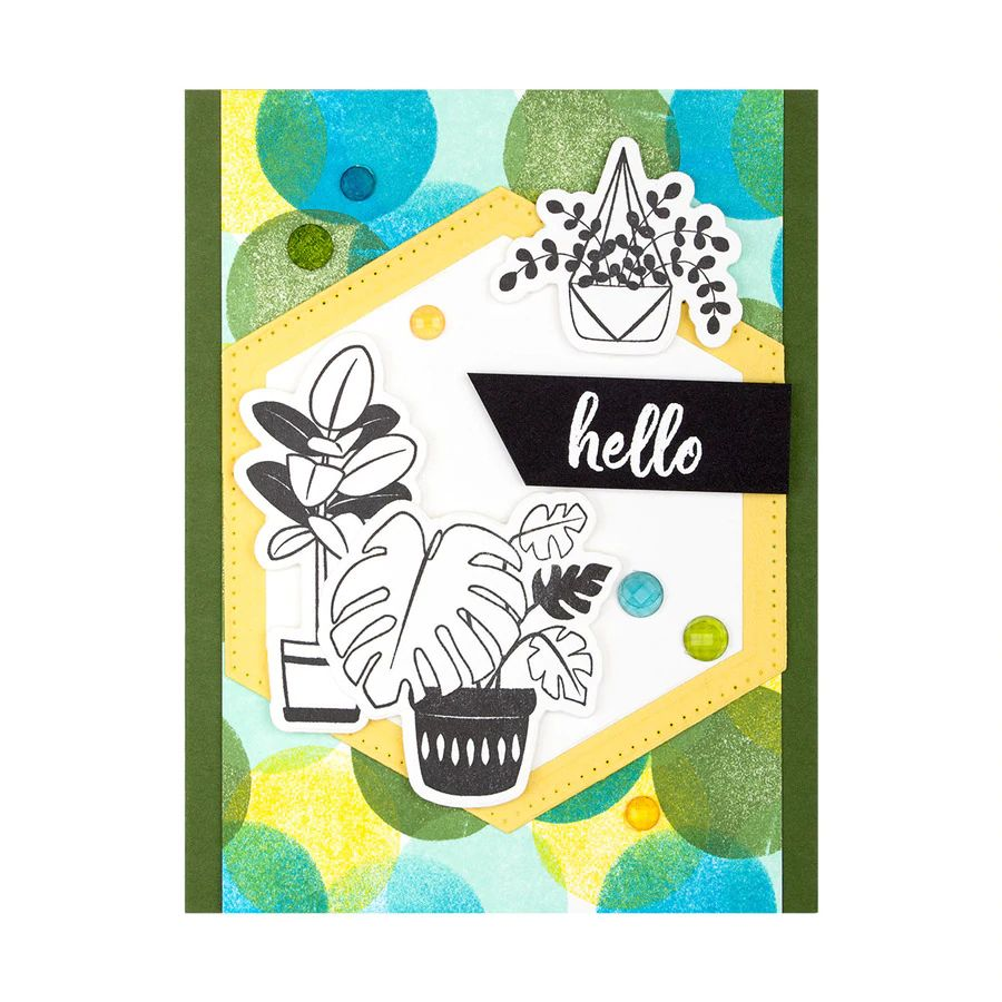 Spellbinders Die - Take Time for You - Plant Lady -  DI-0550