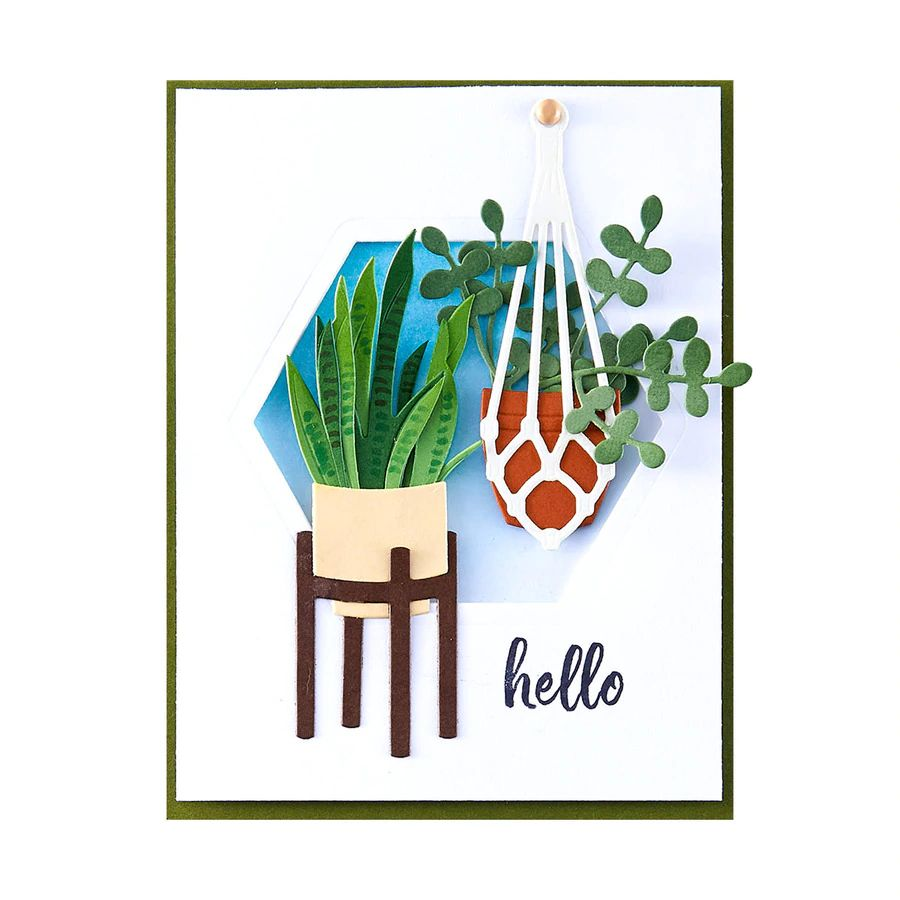 Spellbinders Die- Take Time for You - Happy Plants -  DI-0559