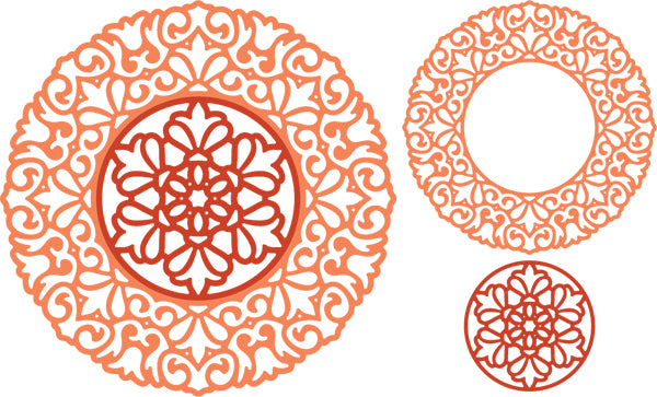 Cheery Lynn Designs Doily Dies - Dutch Daisy Doily (DL281)