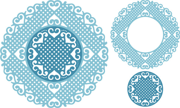 Cheery Lynn Designs Doily Dies - Lords & Commons Doily (DL283)