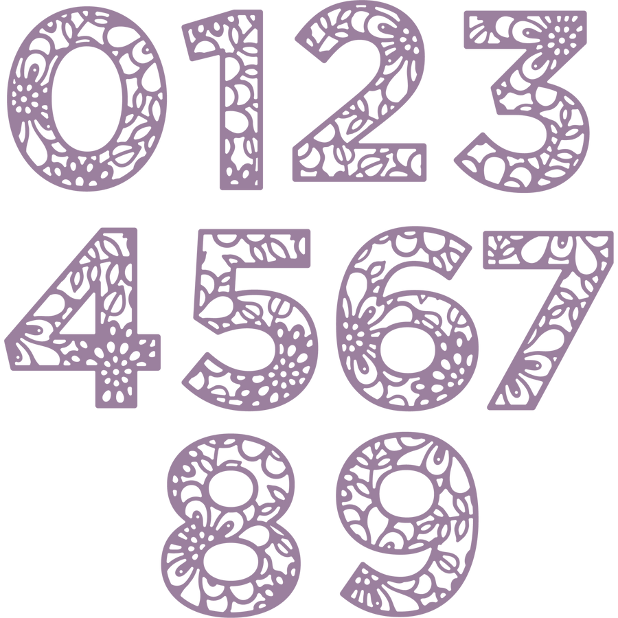 Gemini by Crafters Companion - Stamps & Dies - Make A Statement - Numbers
