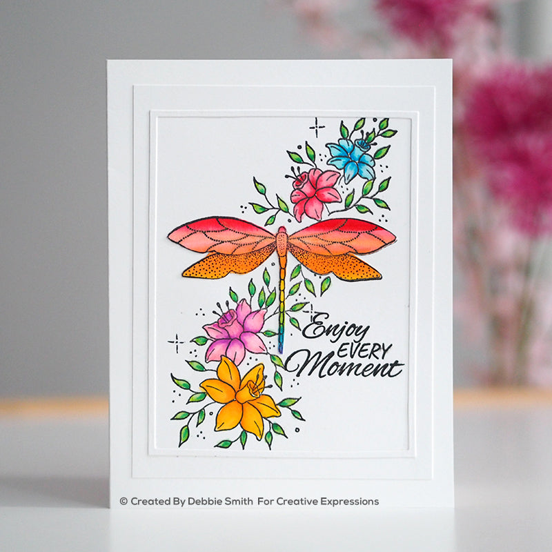 Creative Expressions Stamp - Designer Boutique Collection - Dragonfly Delight