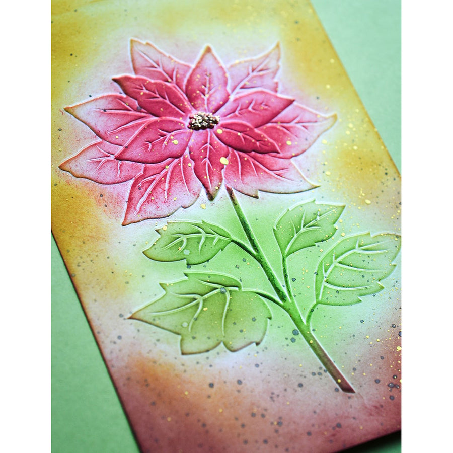 Memory Box 3D Embossing Folder - Magnificent Poinsettia - EF1011