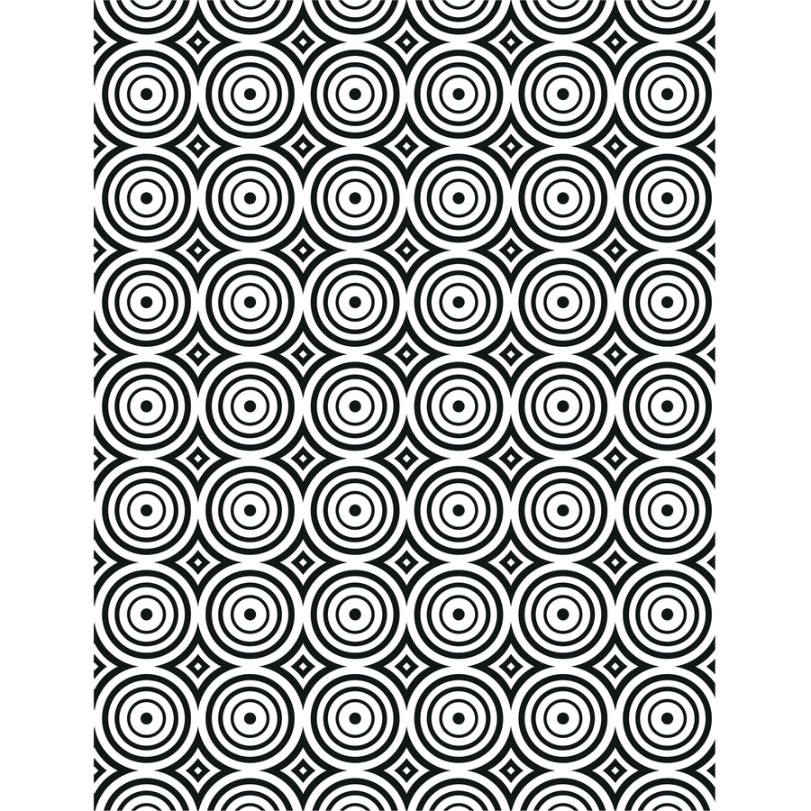 Creative Expressions Embossing Folder  5 3/4 x 7 1/2 Circle Illusion - EF-105