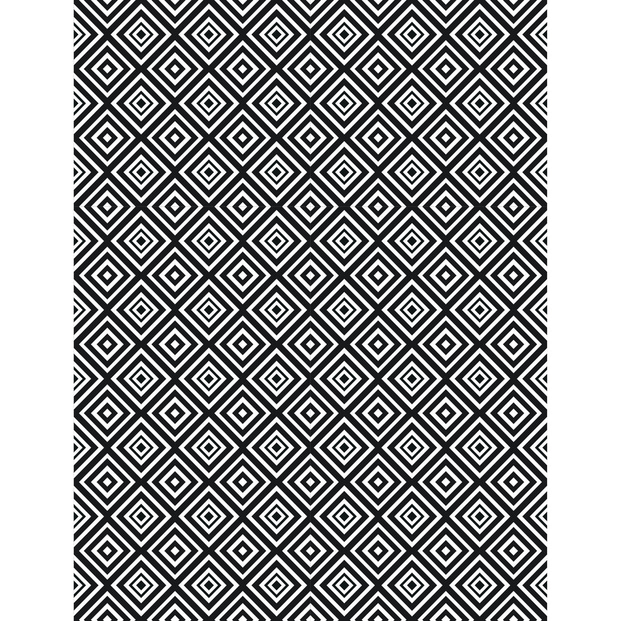 """Creative Expressions Embossing Folder 5 3//4 x7 1//2/"""" Zig Zag Squares EF-094"""