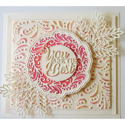 Sue Wilson Embossing Folder 3D - Dotty Flourish - EF3D-019