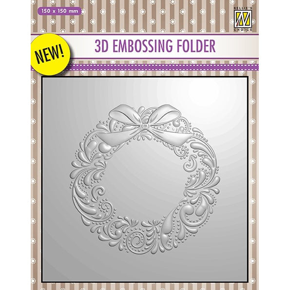 Nellie Snellen 3D Embossing Folder - Wreath - EF3D007