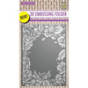 Nellie Snellen 3D Embossing Folder - Flower Frame - EF3D009