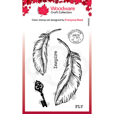 Woodware Clear Singles - Two Feathers  - FRM010