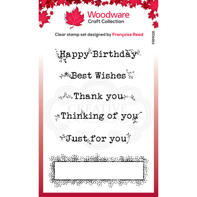 Woodware Clear Singles - Boxed Greetings  - FRM016