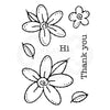 Woodware Clear Singles - Daisies - FRM020