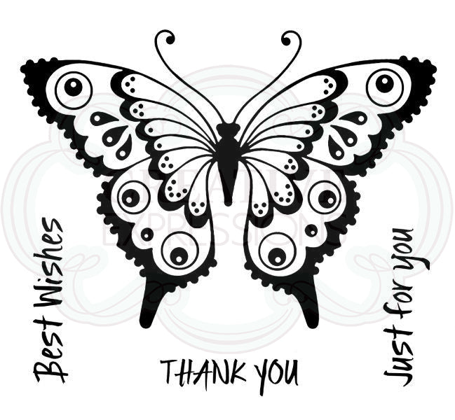 Woodware Stamps Clear Singles - Pretty Flutterby - FRS069