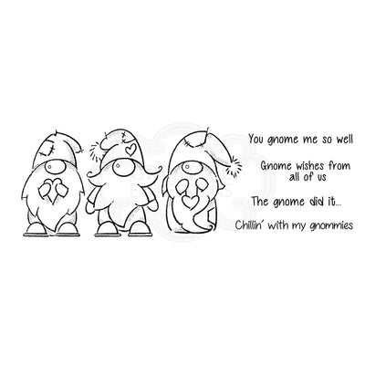 Woodware Clear Singles - Three Gnomes - FRS406
