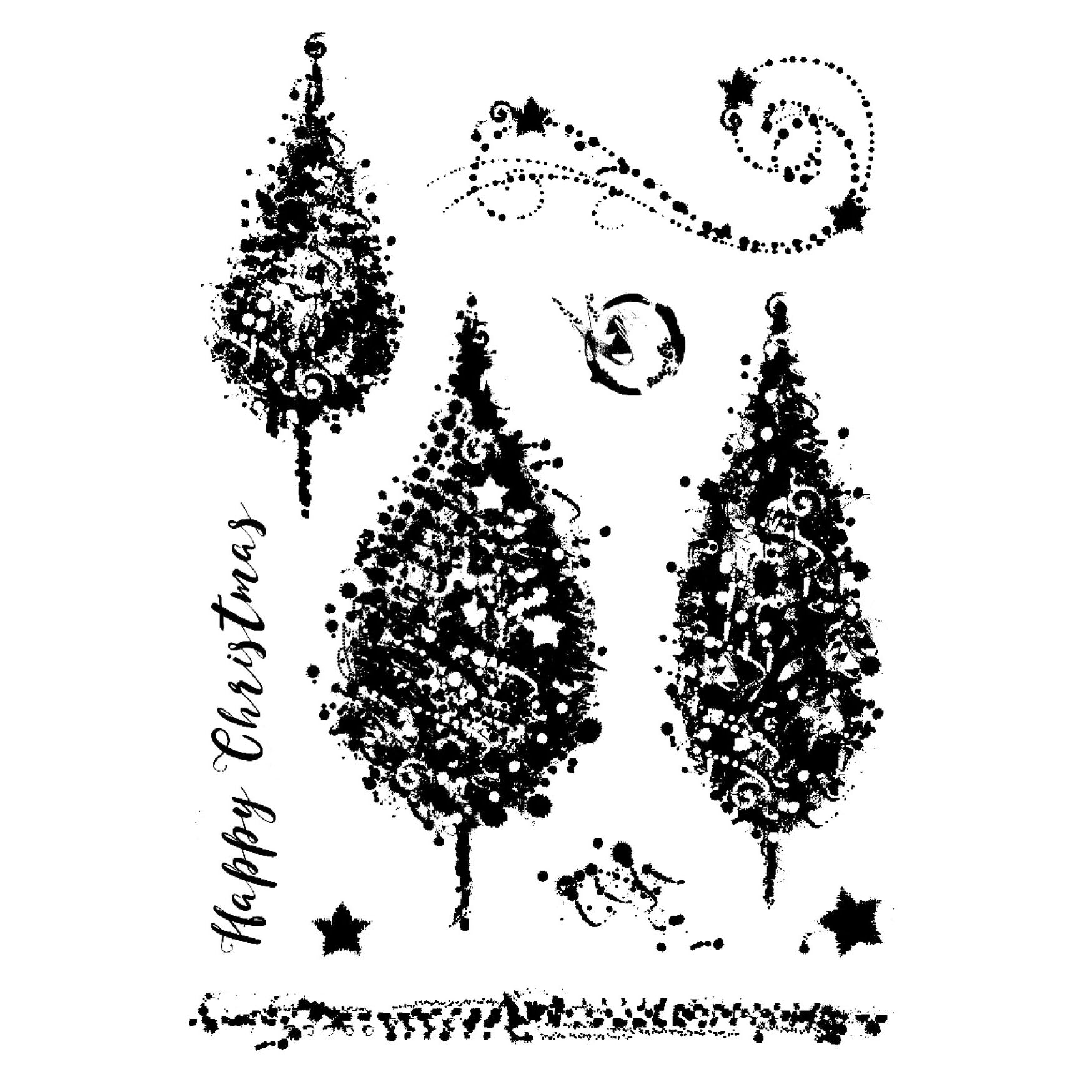 Woodware Clear Stamps Designed by Francoise Read: Sparkly Trees - FRS653