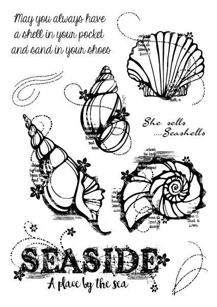 Woodware Stamps Clear Singles - Seashells - FRS694