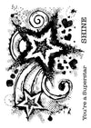 Woodware Stamps Clear Singles - Star Burst - FRS728