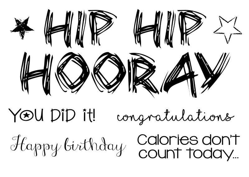 Woodware Clear Singles  - Hip Hip Hooray - FRS734