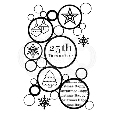 Woodware Clear Singles - Christmas Bubbles - FRS772