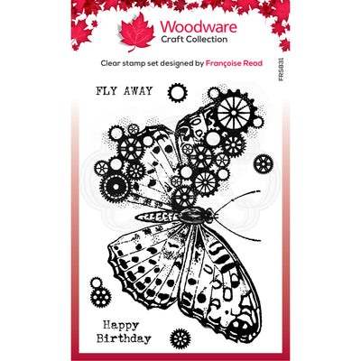 Woodware Clear Singles - Butterfly - FRS831