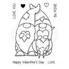 Woodware Clear Singles - Valentine Gnome - FRS846