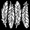 Woodware Stencil - Fancy Feathers - FRST035