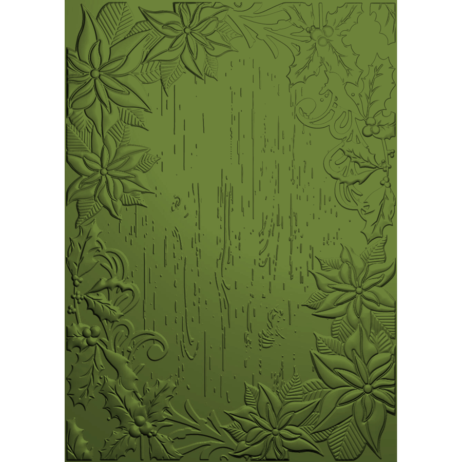 Nature's Garden - Poinsettia Perfection - 3D Embossing - Festive Frame