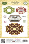 JustRite Cling Stamp - Friends Antique Labels One (CL-03940)
