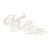 Spellbinders - Copperplate Script Season's Greetings Glimmer Hot Foil Plate PA Scribe by Paul Antonio  - GLP-078