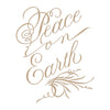 Spellbinders - Copperplate Script Peace on Earth Glimmer Hot Foil Plate PA Scribe by Paul Antonio  - GLP-082