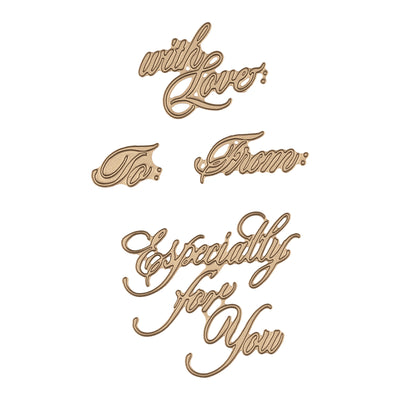 Spellbinders - Copperplate Script Happy Christmas Glimmer Hot Foil Plate PA Scribe by Paul Antonio  - GLP-089