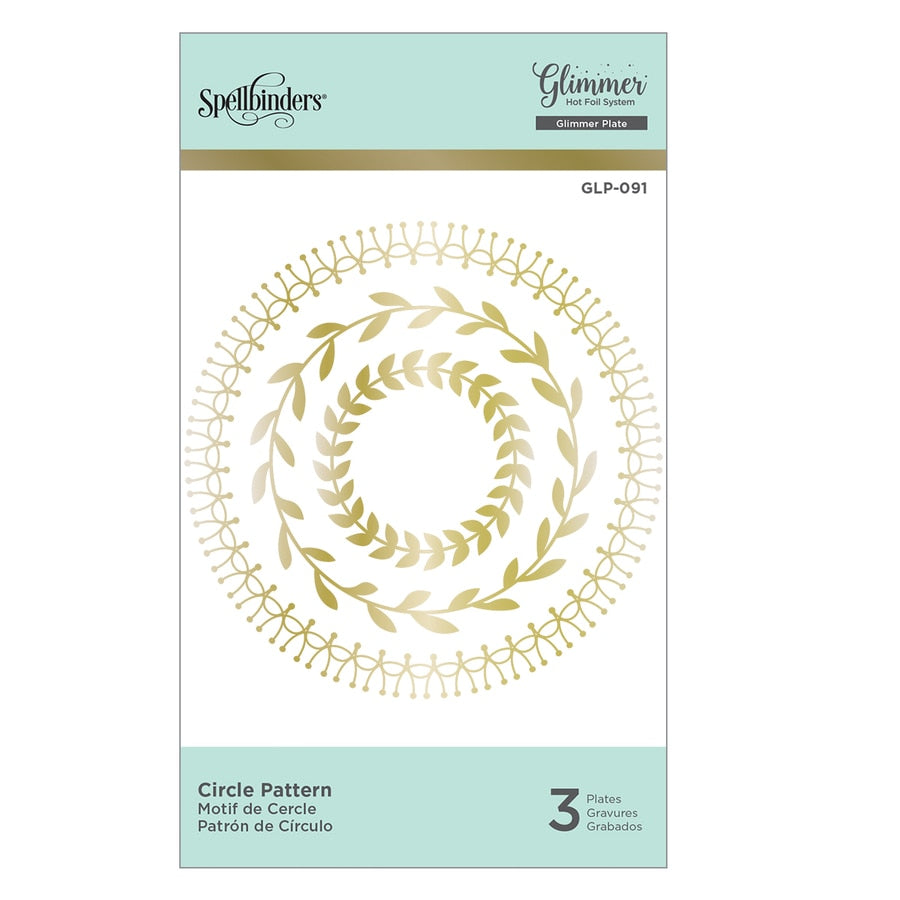 Spellbinders Glimmer Hot Foil Plates - Circle Pattern - GLP-091