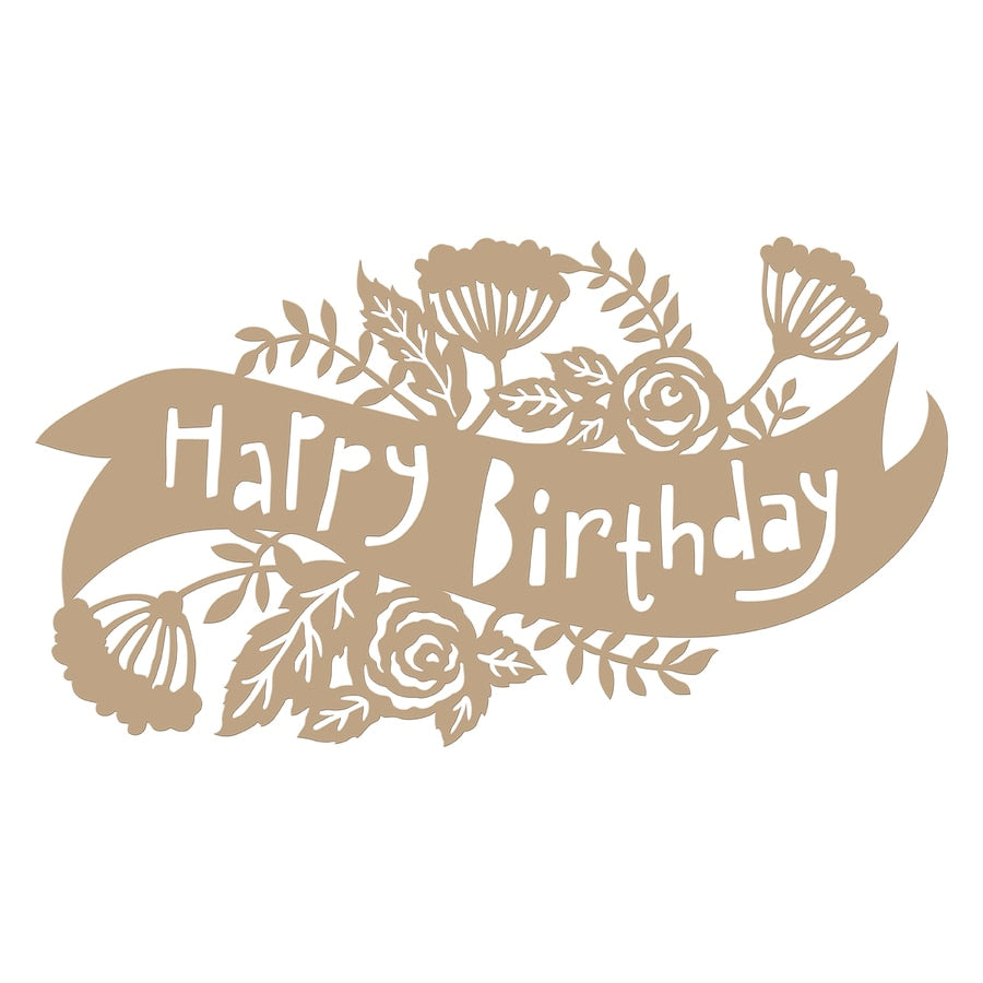 Spellbinders Glimmer Hot Foil Plate - Birthday Banner - Happy by Sharyn Sowell - GLP-098