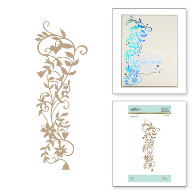 Spellbinders Glimmer Hot Foil Plate - Vine - Happy by Sharyn Sowell - GLP-099