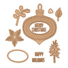 Spellbinders - Ornament Glimmer Hot Foil Plate Holiday 2019  - GLP-100