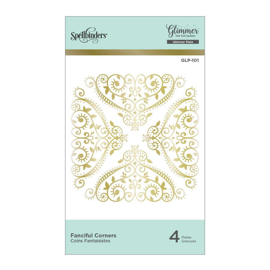 Spellbinders Glimmer Hot Foil Plates - Fanciful Corners - GLP-101