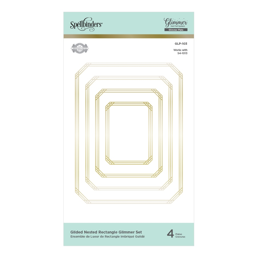 Spellbinders Glimmer Hot Foil Plate - Gilded Nested Rectangle Glimmer Set - The Gilded Age by Becca Feeken - GLP-103