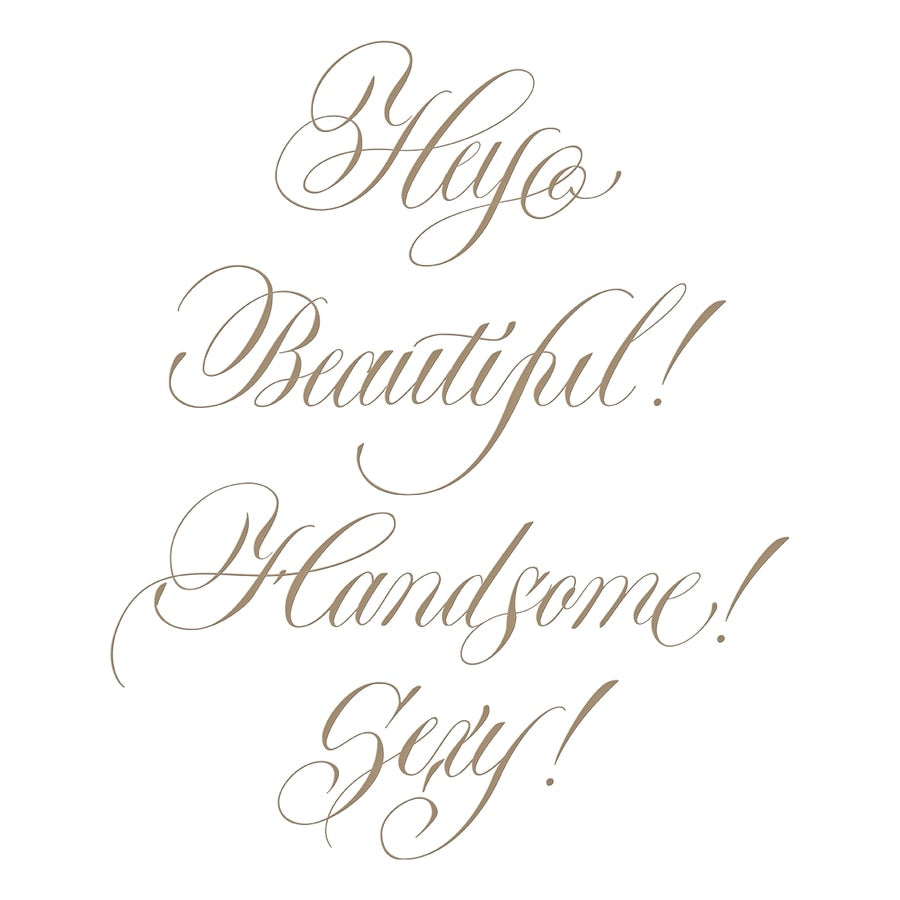 Spellbinders Glimmer Hot Foil Plate - Hey Beautiful! - PA Scribe Collection - GLP-109
