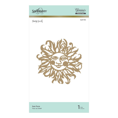 Spellbinders Glimmer Hot Foil Plate - Sunface - Happy by Sharyn Sowell - GLP-110