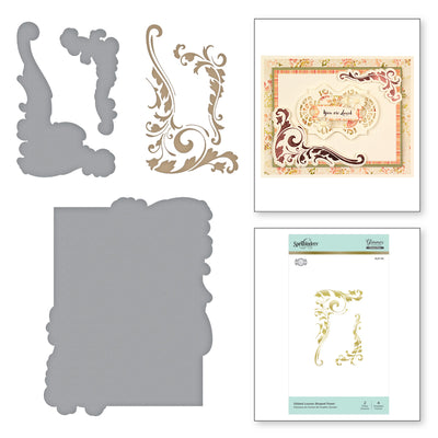 Spellbinders Glimmer Hot Foil Plate - Gilded Leaves Shaped Panel - The Gilded Age by Becca Feeken - GLP-119