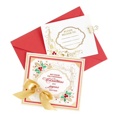 Spellbinders - Hollyday Stationery and Envelope Corner Glimmer Hot Foil Plate Glistening Holiday Glimmer by Becca Feeken - GLP-124