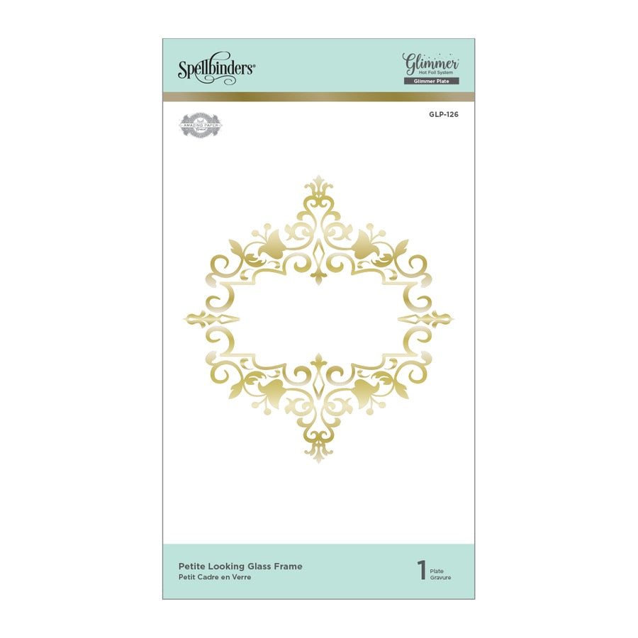 Spellbinders Glimmer Hot Foil Plates - Petite Looking Glass Frame - Royal Flourish by Becca Feeken - GLP-126