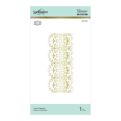 Spellbinders Glimmer Hot Foil Plate - Lace Frippery - The Gilded Age by Becca Feeken - GLP-128