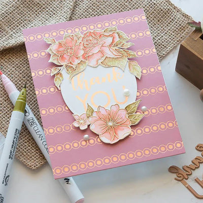 Spellbinders Glimmer Hot Foil Plate - Thank You Combo - GLP-145