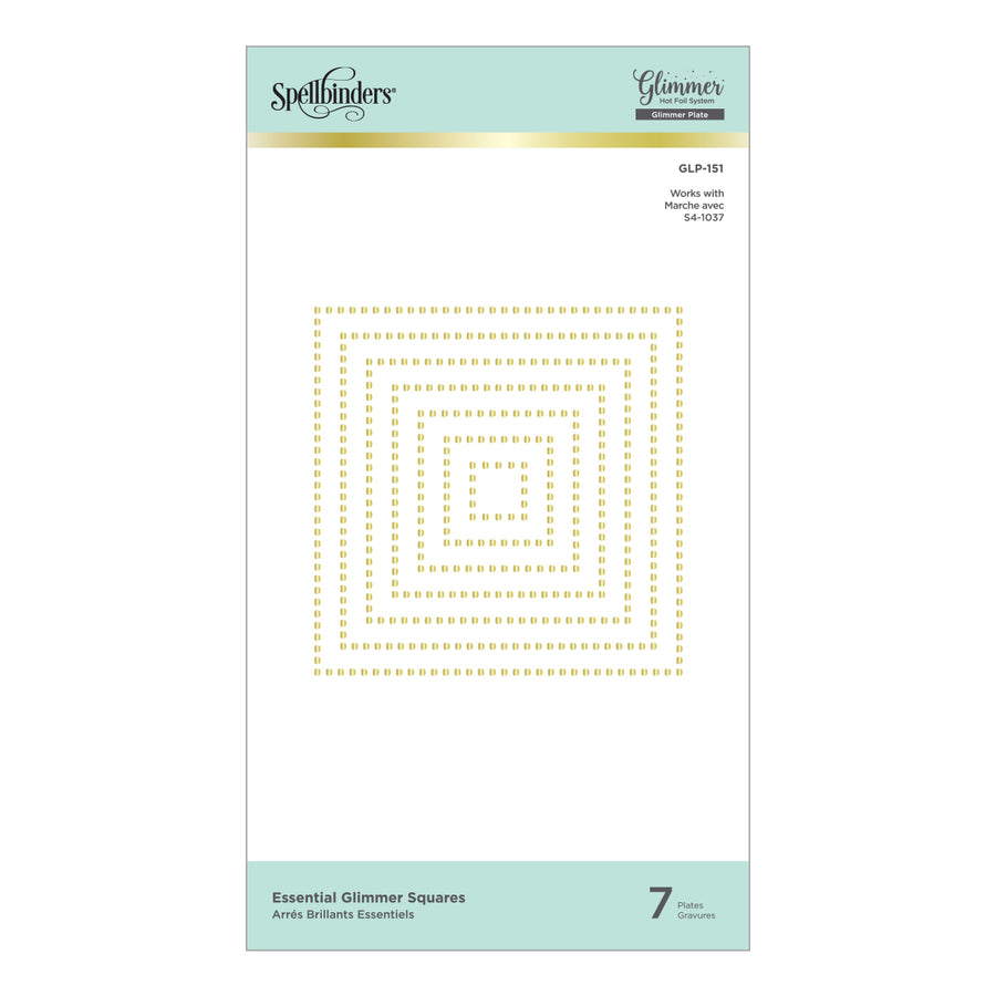 Spellbinders Glimmer Hot Foil Plates - Essential Squares - GLP-151