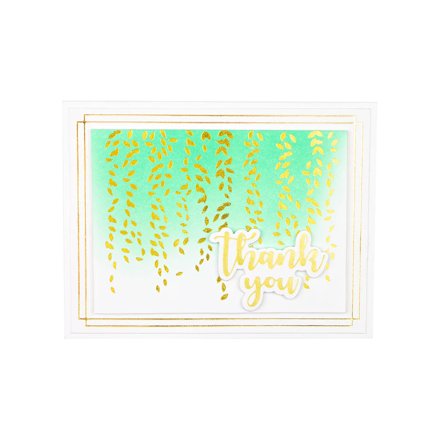 Spellbinders Glimmer Hot Foil Plate - Effortless Greetings by Laurie Wilson - Framed Details - GLP-162