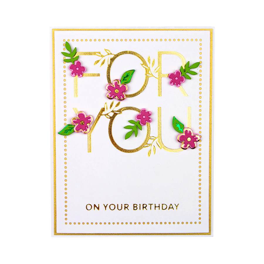 Spellbinders Glimmer Hot Foil Plate - Especially For You - GLP-168